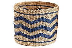 Zigzag Circle Basket, Cobalt on OneKingsLane.com $59