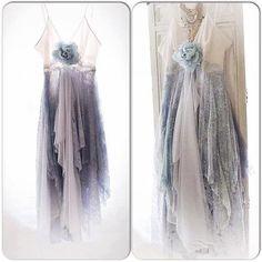 Sexy Gypsy spell Sundress, Bohemian lace slip dress, beach ocean blue dress, Boho dresses, Vagabond wanderer, Romantic, True Rebel clothing