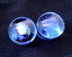 "1g,0g,00g,000g,7/16"" or 1/2"" ARCTIC FUSION Ear Plugs Gauges for Stretched Ears Glass Pyrex"