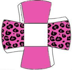 Cajitas imprimibles piel de leopardo rosa. Animal Print Party, Leopard Party, Free Boxes, Pink Panthers, Cake Toppers, Party Themes, Birthdays, Barbie, Paper Crafts
