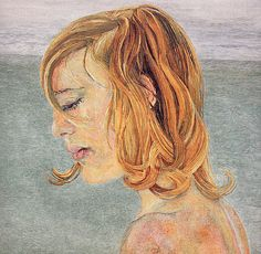 Girl by the Sea, 1956 by Lucian Freud. Expressionism. portrait