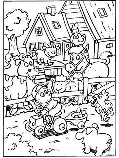 juf Rita pcbs 't Mozaïek :: jufritapcbsmozaiek.yurls.net Forest Coloring Pages, Farm Animal Coloring Pages, Coloring Pages For Boys, Colouring Pics, Free Printable Coloring Pages, Coloring Sheets, Coloring Books, Colani, Pet Day