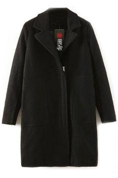 Demure Woolen Loose Coat