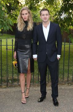 Tyrone Wood (R) and guest attend the annual Serpentine Gallery summer party at The Serpentine Gallery on June 26, 2013 in London, England.