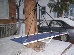 DIY with PVC - a homemade portaledge.