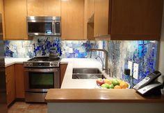 Santa Monica, Pavement Fractals - Contemporary - Kitchen - Other Metro - BIG BANG MOSAICS