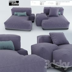 Sofa Sanders from ditre italia with attached armrest.