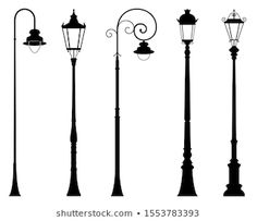 Similar Images, Stock Photos & Vectors of Lamp post collection - 102187369 Garden Pavers, House Clipart, Lamp Post Lights, Power Hammer, Secret House, Outdoor Post Lights, Garden Drawing, Bird Sculpture, Drawing Poses