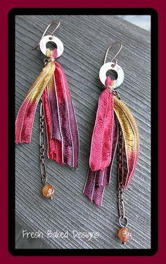 making jewelry using ribbon | Spring Valley, California, USA)
