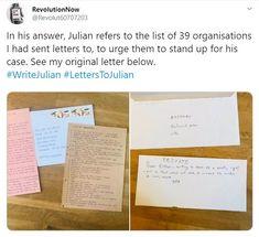 2019 Nov Letters TO Julian - now replied