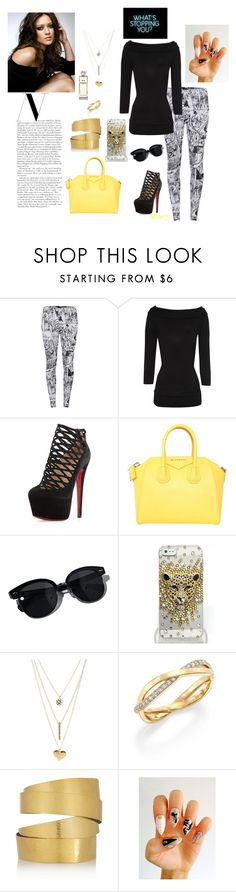 """""""Cute n comfy"""" by mizery4u ❤ liked on Polyvore featuring McQ by Alexander McQueen, Jane Norman, Christian Louboutin, Givenchy, Oliver Peoples, Charlotte Russe, De Beers, Hervé Van Der Straeten, Chanel and comfort"""