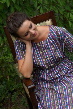Vintage tailor-made dress with a Belt  by VintagEraShop