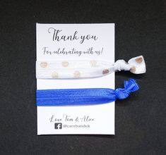 Spread the love with our 'Thank you for celebrating with us' gift bands, personalised to order! #personalised #personalisedgifts #thankyou