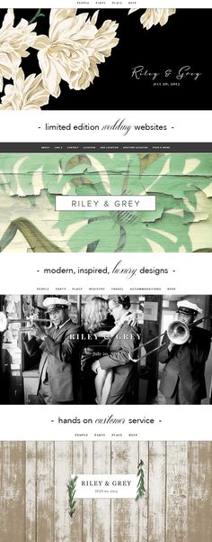 Modern, Chic Wedding Websites from Riley & Grey