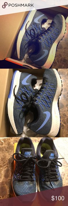Women's Nike Pegasus zoom Great almost new condition. Worn a handful of times no sole wear. Most comfy shoe for outdoor running. Color is blue and black laces. Nike Shoes Athletic Shoes