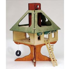 Waldorf Wooden Tree House Toy | Doll House
