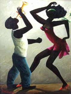 "Orville Bulman Jazz Club consisting of African American New Orleans Jazz Club inspired paintings by Orville Bulman like ""Hot Trombone,"" and the ""Hot Horn"" series. Afro Dance, Dance Art, Harlem Renaissance Artists, Dance Paintings, Jazz Art, Black Love Art, Jazz Club, Afro Art, Black Artists"
