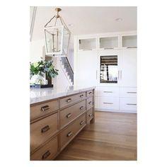 white oak + white + brass = a warm, timeless kitchen.  tanner curtis