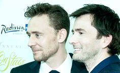 David tennant(the Doctor) and freaking tom hiddleston(Loki) Thomas William Hiddleston, Tom Hiddleston Loki, British Men, British Actors, David Tennant, Chris Evans, Avengers, Rose And The Doctor, Doctor Who