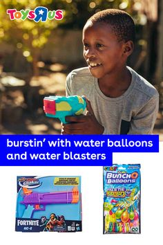 Use the next hot day to have some active outdoor fun with water blasters and water balloons! Fill 'em up, pick some sides then turn the backyard into an epic blaster ground where everybody gets cooled down and has lots of fun, too!