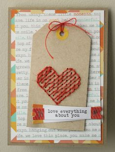 heyheymandykay cute valentine card.  I would use this for the lay-out.  I dont do any stitching ;)