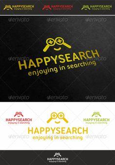 Happy Search Face Logo ¨C Modern Creative & Professional Web Development, SEO Specialist, Search Engine Optimization Agency, Search