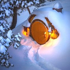 The Hobbitown in winter, New Zealand Winter Art, Winter Snow, Winter Night, Destinations, Destination Voyage, Wonderful Places, New Zealand, Link, Earth