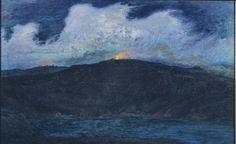 Incêndios em pleno verão durante uma tempestade. Óleo sobre tela. 1900. Karl Nordstrom (1855-1923). Encontra-se na Galeria Thiel em Estocolmo, Suécia.