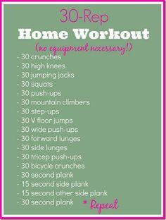 30 Rep Home Workout ( no equipment necessary )