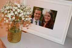 Homemade Engagement Party Decorations | DIY | Glitter Vases & Paper Tissue Pom Poms