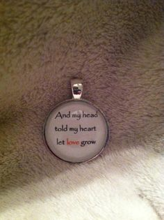 Mumford and Sons glass tile pendant with lyrics by GlassByDesign7, $12.50