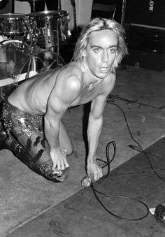 "soundsof71: ""Iggy Pop at New York City punk mecca Max's Kansas City, 1973, by Lynn Goldsmith """