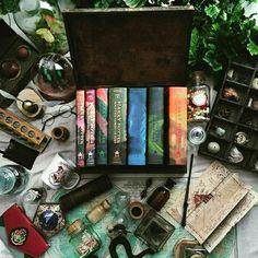 Livros Harry Potter. Amo !