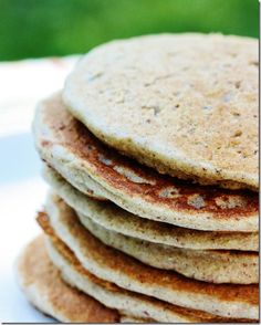 Buckwheat Quinoa Pancakes with Pumpkin Cream OR Beet and Berry Sauce