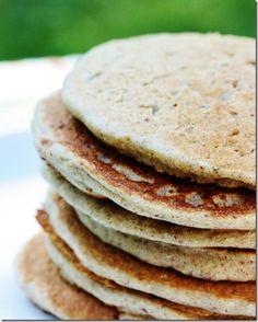 Buckwheat Quinoa Pancakes with Pumpkin Cream OR Beet and Berry Sauce