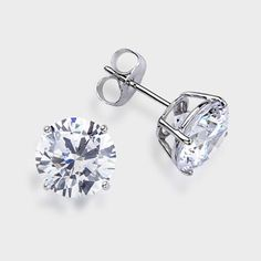 2 5 Ct Each Round 14k Stud Earring High Quality Cubic Zirconia Earrings Featuring