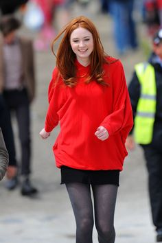 Karen Gillan is only 23. Wow. (not surprising that Arthur is the oldest.)