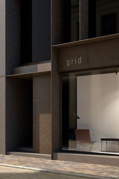 Fassade - New Sites Retail Facade, Shop Facade, Building Facade, Facade House, Facade Design, Exterior Design, Interior And Exterior, Interior Minimalista, Residential Complex