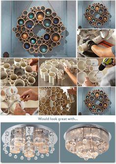 19 best diy home decor fai da te images on pinterest good ideas creative do it yourself decoration idea using plastic pipes make it using pvc solutioingenieria Image collections