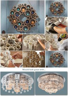 Diy home decor fai da te on pinterest pvc pipes pipe curtain rods and ro - Do it yourself decoration ...