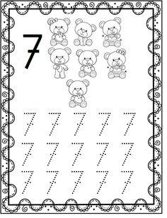 Numbers Preschool, Kindergarten Learning, Preschool Learning Activities, Learning Numbers, Writing Numbers, Kindergarten Writing, Preschool Printables, Kindergarten Worksheets, Learning English For Kids