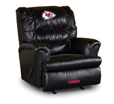 Kansas City Chiefs Leather Big Daddy Recliner, must have for me.