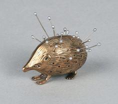 Hedgehog shaped pin holder