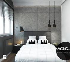 Oryginalna i nowoczesna sypialnia z akcentem. - zdjęcie od MONOstudio Interior And Exterior, Master Bedroom, Sweet Home, Architecture, House, Furniture, Bedroom Ideas, Home Decor, Bliss