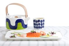 The fresh and harmonious designs of the Marimekko for Finnair collection of tabl. The fresh and harmonious designs of the Marimekko for Finnair collection of tableware and textiles Marimekko, Textiles, Nordic Design, Scandinavian Style, Nordic Style, The Fresh, Floral Prints, Product Launch, Ceramics