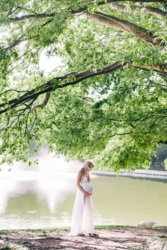 Beautiful dress/location. Maternity Photography - Two Sunflowers Photography - Austin, Texas