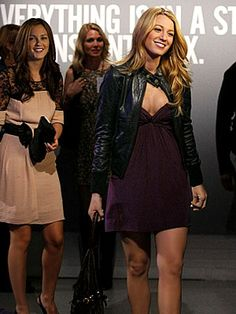 Gossip Girl Season Two: Get the Look  Episode 208: Pret-a-Poor J  Blair and Serena arrive at Rufus's art gallery opening in party attire: Blair is wearing a Temperley London dress and carrying a Kate Spade clutch; Serena's in a Foley & Corinna dress, Doma jacket and carries a GF Ferre bag.