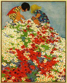 Vintage Art Work, c.1925 - 'Woman's World' illustration.