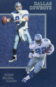 ea17930eac3 2000 Dallas Cowboys Media Guide - Troy Aikman & Emmitt Smith cover # Dallas #