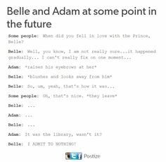 Belle and Adam.yeah it was definitely the library 😂😂😂 Disney Dream, Cute Disney, Disney Magic, Funny Disney, Disney And Dreamworks, Disney Pixar, Walt Disney, Disney High, Disney Characters